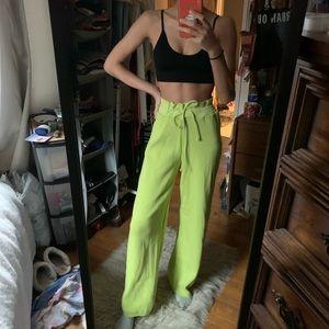 Lime Green Knit Lounge Pants PLT